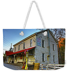 Weekender Tote Bag featuring the photograph Nora Grist Mill by Barbara Bowen