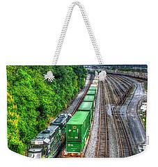 Weekender Tote Bag featuring the photograph Norfolk Southern Locomotive 648 Atlanta Train Art by Reid Callaway