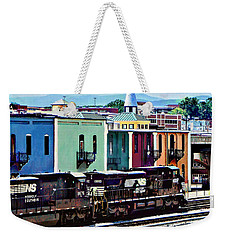 Norfolk Va - Train With Two Locomotives Weekender Tote Bag