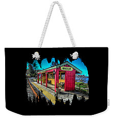 Weekender Tote Bag featuring the photograph Norm Laknes Train Station by Thom Zehrfeld