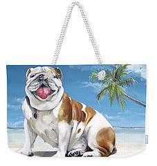 Norma Jean The Key West Puppy Weekender Tote Bag by Phyllis Beiser