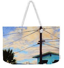 Weekender Tote Bag featuring the painting Normal Ave by Andrew Danielsen