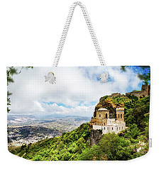 Norman Castle On Mount Erice - Sicily Italy Weekender Tote Bag