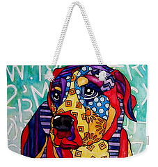 Norman  Weekender Tote Bag by Jackie Carpenter