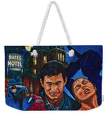 Weekender Tote Bag featuring the painting Norman by Michael Frank