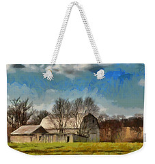 Weekender Tote Bag featuring the mixed media Norman's Homestead by Trish Tritz