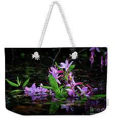 Weekender Tote Bag featuring the photograph Norris Lake Floral by Douglas Stucky