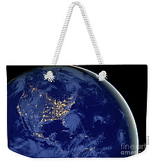 North America From Space Weekender Tote Bag by Delphimages Photo Creations
