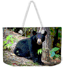 Weekender Tote Bag featuring the mixed media North American Black Bear by Charles Shoup
