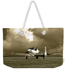 Weekender Tote Bag featuring the photograph North American T6 by Tim McCullough