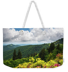 North Carolina Appalachian Mountains Spring Flowers Scenic Landscape Weekender Tote Bag