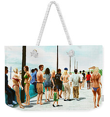North Carolina Atlantic Beach Boardwalk Digital Art Weekender Tote Bag