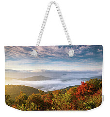 North Carolina Autumn Sunrise Blue Ridge Parkway Fall Foliage Nc Mountains Weekender Tote Bag