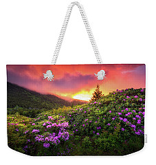 North Carolina Mountains Outdoors Landscape Appalachian Trail Spring Flowers Sunset Weekender Tote Bag