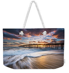 North Carolina Outer Banks Seascape Nags Head Pier Obx Nc Weekender Tote Bag