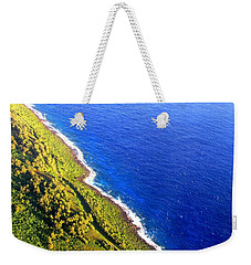Weekender Tote Bag featuring the photograph North Coast Of Tinian At Sunrise by MB Dallocchio