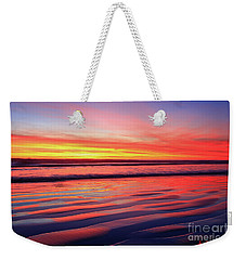 Weekender Tote Bag featuring the photograph North County Sand Ripples by John F Tsumas