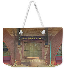 North Easton Train Station At Solstice Weekender Tote Bag