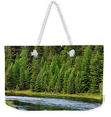 North Fork Of The Flathead Weekender Tote Bag