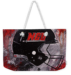 North Greenville University Football Helmet Wall Art Painting Weekender Tote Bag