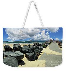 North Haven Breakwater Walkway By Kaye Menner Weekender Tote Bag