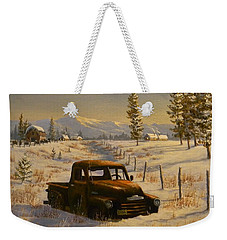 North Idaho Yard Art Weekender Tote Bag