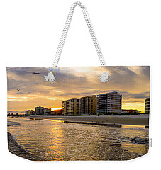 North Myrtle Beach Sunset Weekender Tote Bag by David Smith