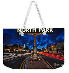 North Park Neon Sign San Diego California Weekender Tote Bag