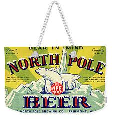 North Pole Beer Weekender Tote Bag