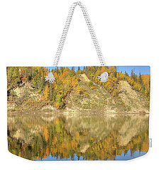 North Saskatchewan River Reflections Weekender Tote Bag