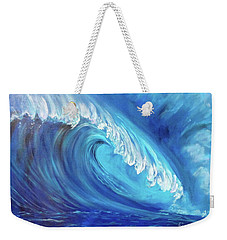 North Shore Wave Oahu 2 Weekender Tote Bag by Jenny Lee