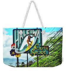 North Shore's Hale'iwa Sign Weekender Tote Bag