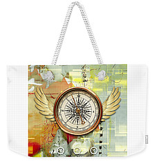 Weekender Tote Bag featuring the mixed media North, South, East And West by Marvin Blaine