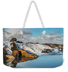 North Spit Wave Spillover Weekender Tote Bag