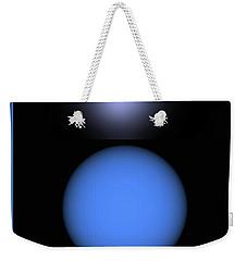 Weekender Tote Bag featuring the digital art North Star by John Krakora