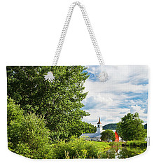 Weekender Tote Bag featuring the photograph North Tunbridge Summer Day by Alan L Graham