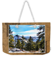 Weekender Tote Bag featuring the photograph North View by Susan Kinney