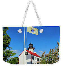 North Wind At East Point Light Weekender Tote Bag