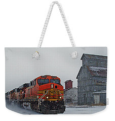 Northbound Winter Coal Drag Weekender Tote Bag