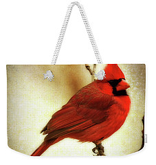 Northern Cardinal Weekender Tote Bag by Lana Trussell
