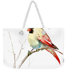 Northern Cardinal,female Weekender Tote Bag by Suren Nersisyan