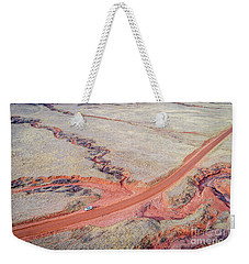 northern Colorado foothills aerial view Weekender Tote Bag