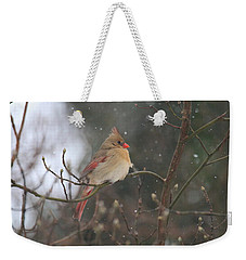 Northern Female Cardinal Weekender Tote Bag
