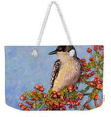 Weekender Tote Bag featuring the painting Northern King Bird  by Joe Bergholm