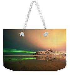 Northern Light In Lofoten Nordland 5 Weekender Tote Bag