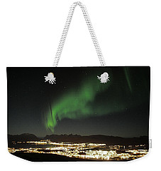 Northern Light In Troms, North Of Norway Weekender Tote Bag