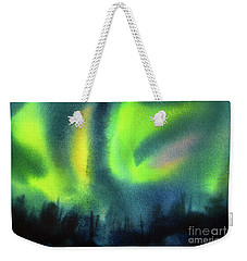 Weekender Tote Bag featuring the painting Northern Lights 3 by Kathy Braud