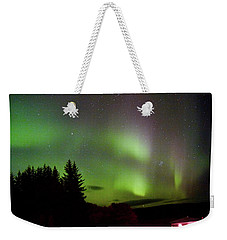 Northern Lights Curtains Weekender Tote Bag