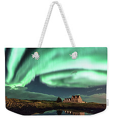 Northern Lights Weekender Tote Bag by Frodi Brinks