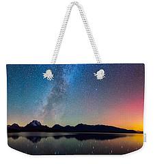 Northern Lights Over Jackson Lake Weekender Tote Bag